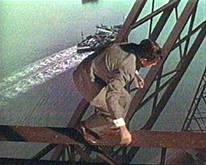 Forth Bridge still from 1959 Kenneth More version of 'The 39 Steps'