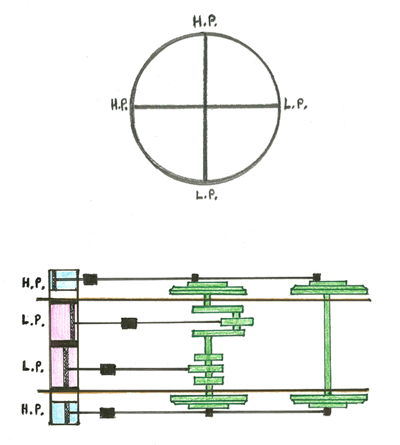 Fig. 18, Crank arrangements on NER Nos. 730 and 731 (M.Peirson)