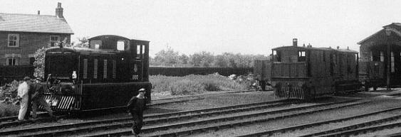 Old and the new at Wisbech on 4th June 1952 as No. 11102 prepares for its inaugural service