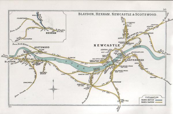 Fig. 1, Railway Junction Diagram (c.Gateshead Library)