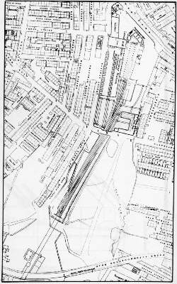 1838 map of the Leeds terminus tunnel entrance