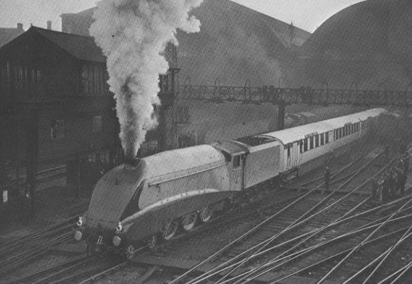 Gresley A4 Pacific No. 2509 'Silver Link', leaving Kings Cross