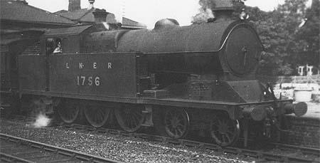 A5 No. 1756 in LNER livery (c.Rosewarne)