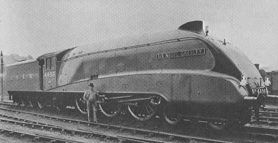 Sir Nigel Gresley infront of A4 Pacific No. 4498, 'Sir Nigel Gresley'