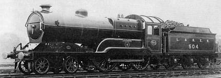 Class D11 'Improved Director' No. 504 Jutland at Neasden Shed in 1923