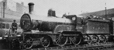 Class D4 GNR No. 1356 at Nottingham Victoria in 1922