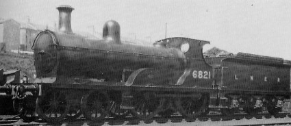 D41 No. 6821 at Kittybrewster in about 1936