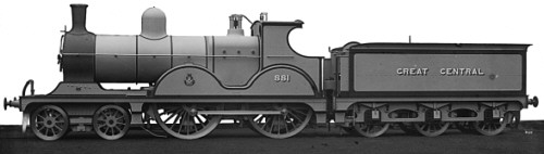 Class D6 GCR No. 881, works photograph (M.Peirson)