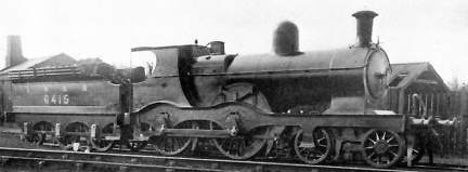 GNR Class D8 No. 6415 with Robinson chimney, at Southport in 1925
