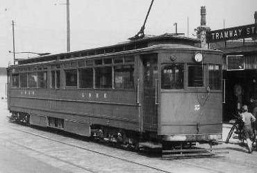 72-seat Brush tram No. 2 at Grimsby in 1947