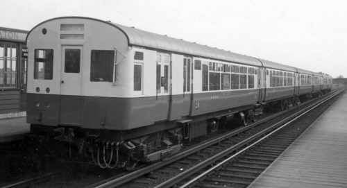 1937 Metro-Cammell stock passing West Monkseaton during trials in May 1937; Bill Donald Collection