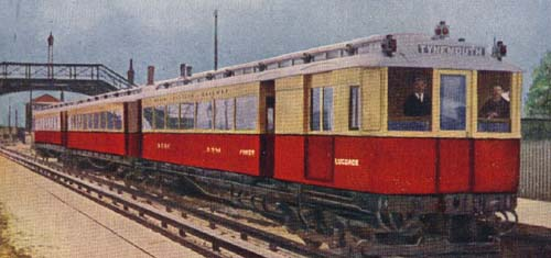 Colour postcard illustration of original NER 1904 stock.