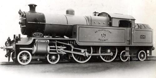 Metropolitan Class H, LNER Class H2 4-4-4T No. 106, ex-works (M.Peirson)
