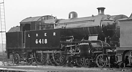 LNER Class H2 4-4-4T No. 6418 at Neasden in 1938, (M.Morant)