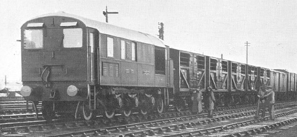 Armstrong Whitworth 1-Co-1 with goods train