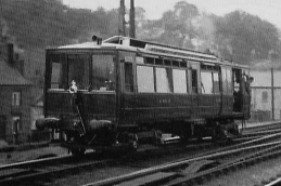 GCR petrol-electric railcar No. 51907 at Macclesfield