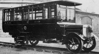 NER Petrol Rail Motor Bus No. 110 at York in 1922