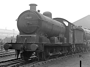 J20/1 No. 64685 at Stratford in the mid-50s (M.Morant)