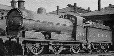 J28/1 (H&BR Class LS) No. 2412 at Doncaster in about 1934