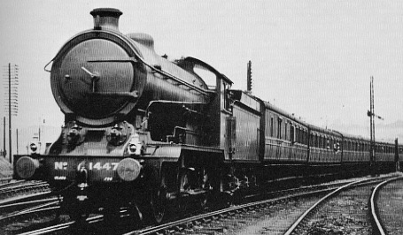 J38 No. 1447 hauling a Kirkcaldy to Glasgow special near Inverkeithing in 1927