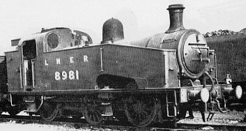 Class J50/4 No. 8981,  at Colwick Shed in 1946