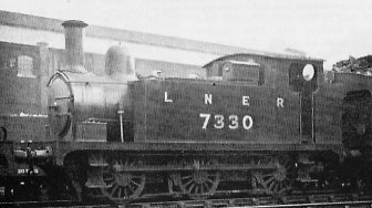 J67/2 No. 7330 shunter converted from passenger locomotive (Stratford in 1931)