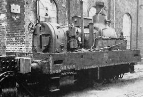 J70 No. 68219 with the bodywork removed, Stratford Works in 1953