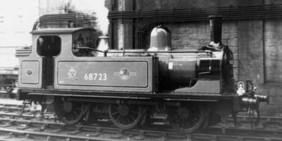 Newcastle pilot J72 No. 68723 in the early 1960s (A.Willis)