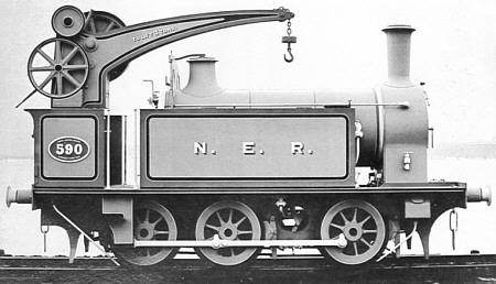 Crane tank J78 NER No. 995, works photograph (M.Peirson)