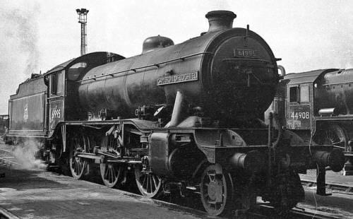 Gresley K4 No. 61995 'Cameron of Locheil' at Eastfield in 1959 (M.Peirson)