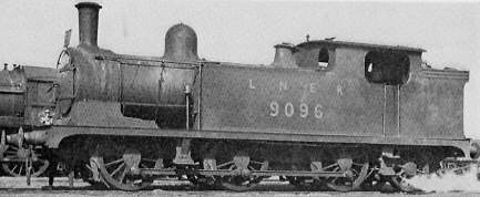 Class N10 No. 9096 at Dairycoates shed in 1948