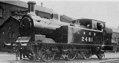 Class N11 No. 2481 at Springhead; Diagram 56 boiler and H&B chimney