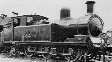 Class N6 No. 6414 at Tuxford Shed in 1938