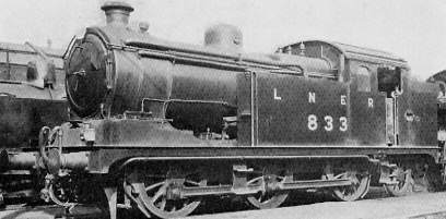 Class N7/1 No. 833 at Stratford Shed, with Diagram 98 boiler