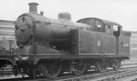 Class N7/4 No. 69603 with Ramsbottom valves, at Stratford in 1959 (PH.Groom)