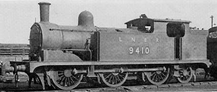 Class N9 No. 9410 at Darlington shed in 1947