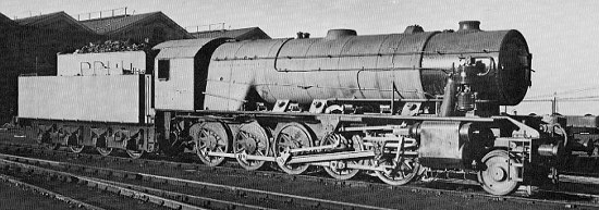 WD Austerity 2-10-0, at Doncaster in December 1943