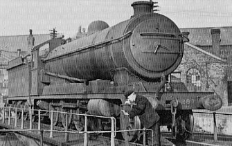 Class O4/4 No. 6287 at Gorton shed, April 1939