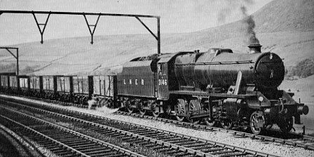 Class O6 (Stanier 8F), No. 3146 passing Torside in 1946