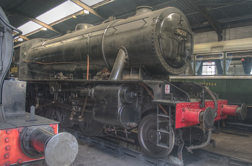 Preserved Austerity 2-8-0 No. 90733 at Haworth (R.Marsden)
