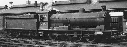 Q5 No. 715 in LNER livery (c.Rosewarne)