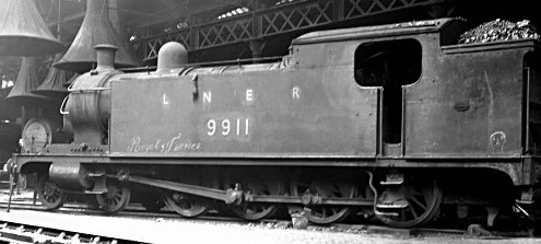 Worsdell T1 4-8-0T No. 991 at Newport in August 1950 (M.Morant)