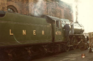'Green Arrow' No. 4771 at Norwich in 1977/8 (c. Simon Plumpton)