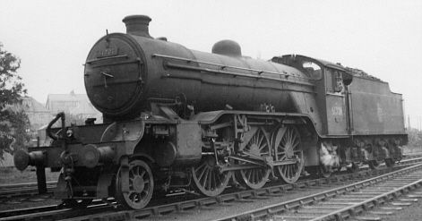 Gresley V4 2-6-2 BR No. 61701 at Ferryhill in 1957 (PH Groom)