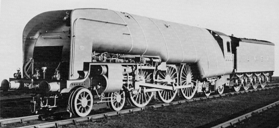 Gresley W1 No. 10000 'Hush-Hush'; Darlington, Dec. 1929