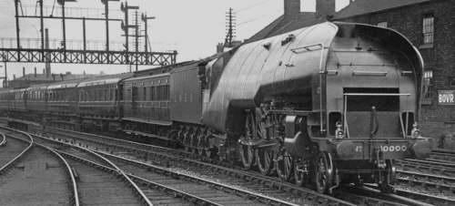 Gresley W1 No. 10000 'Hush-Hush' in service (M.Peirson)