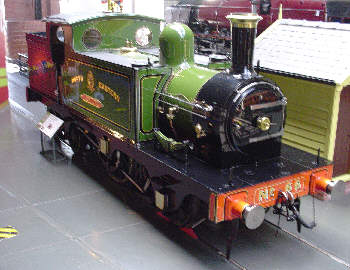 No. 66 Aerolite in preservation at the National Railway Museum at York