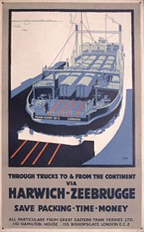 Poster for the Harwich Train Ferries (c. G.Robinson)
