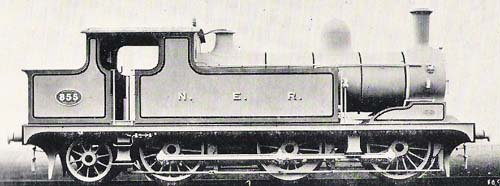 Fig. 7, Class B No. 855 ex-works (author's collection)