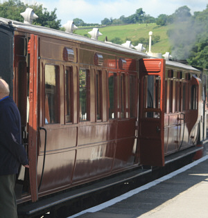 GER Coach Nos. 14 and 37, on the Embsay and Bolton Abbey Railway